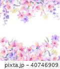 透明水彩 水彩画 ウォーターカラーのイラスト 40746909