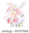 透明水彩 水彩画 ウォーターカラーのイラスト 40747068