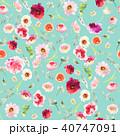 フローラル 花 水彩画のイラスト 40747091