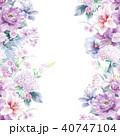 花 フラワー お花のイラスト 40747104