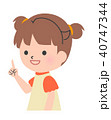 女の子 子供 指差しのイラスト 40747344