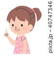 女の子 子供 指差しのイラスト 40747346