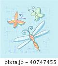 ベクトル とんぼ トンボのイラスト 40747455