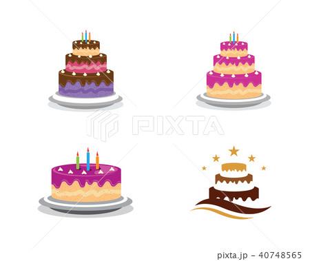 cake sign icon vector illustration design templateのイラスト素材