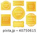 ラベル フレーム セットのイラスト 40750615