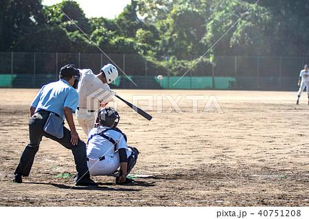 高校野球試合風景 40751208