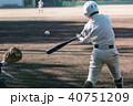 野球 男性 白球の写真 40751209