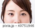 眼 眉 おでこ 前髪 女性 40751946