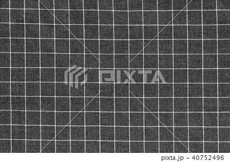 背景素材 布地 白黒 チェック柄の写真素材