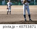 野球 選手 ボールの写真 40753871