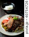 黒毛和牛の焼き肉とご飯 40754726