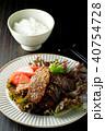 黒毛和牛の焼き肉とご飯 40754728