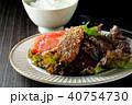 黒毛和牛の焼き肉とご飯 40754730