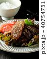 黒毛和牛の焼き肉とご飯 40754731