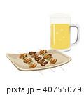 焼き鳥 食べ物 ビールのイラスト 40755079