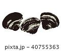 蜆 貝 貝類のイラスト 40755363