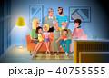 ファミリー 家庭 家族のイラスト 40755555