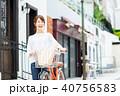 若い女性(自転車) 40756583