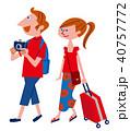 欧米人 旅行者 カップルのイラスト 40757772