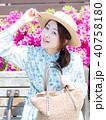 買い物 女性 アジア人の写真 40758180
