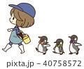 ペンギンのお散歩 40758572