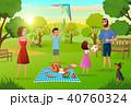 ファミリー 家庭 家族のイラスト 40760324