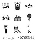 River rest icons set, simple style 40765341