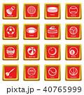 赤 赤色 スポーツのイラスト 40765999