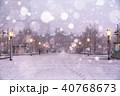 降雪 積雪 冬の写真 40768673