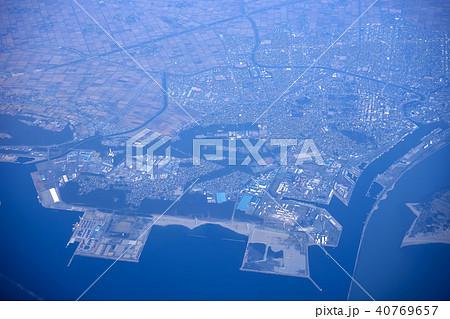 飛行機の窓から 酒田市上空 40769657