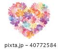 ハート 花 ベクターのイラスト 40772584