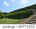 七尾城址 青空 石垣の写真 40773352