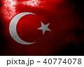 Turkey national flag 3D illustration symbol 40774078