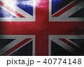 United Kingdom flag 3D illustration symbol.  40774148