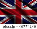 United Kingdom flag 3D illustration symbol.  40774149