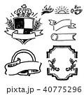 ラベル 手描き ベクターのイラスト 40775296
