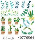 観葉植物、ガーデニング、サボテンのイラストセット 40776564