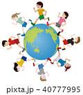 地球の周りを走る様々な人種の人々 40777995
