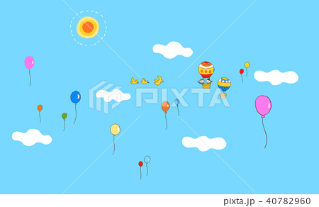 青空と風船 40782960