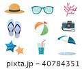 夏 素材 セットのイラスト 40784351