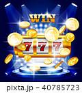 カジノ カジノの スロットのイラスト 40785723