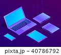 ベクトル 立体 3Dのイラスト 40786792