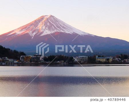 富士山 夕暮れ 河口湖 40789446