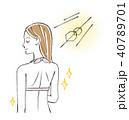 水着を着た後ろ姿の女性 40789701