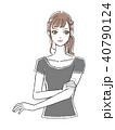 クリームを塗る女性 Tシャツ 40790124