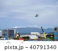防災訓練 救難ヘリとクレーン車 40791340