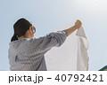 女性 家事 洗濯の写真 40792421