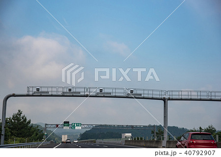 新名神高速道路 もうすぐ土山サービスエリア ネズミ捕り 40792907