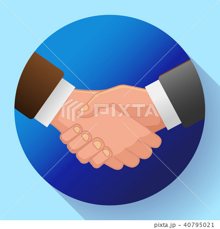 handshake icon contract icon agreement icon for app or websiteの