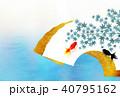 金魚 扇子 もみじのイラスト 40795162